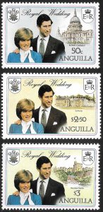 Anguilla # 444 - 46 Mint Never Hinged