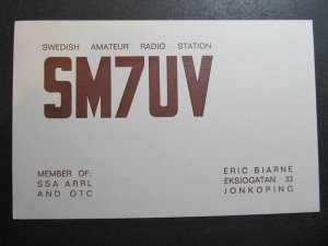 10297 Amateur Radio QSL Card JONKOPING SWEDEN