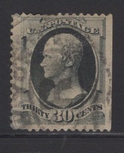 US Stamp Scott #165 30c Grey Black JUMBO USED SCV $135