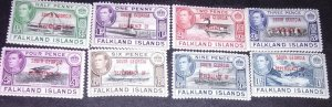 Falkland islands Dependencies  George VI with overprints of Aouth Georgia