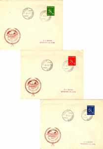 Finland 6M, 9M, and 15M Arms of the Republic 1948 Helsinki 1. Paiva, Helsingf...