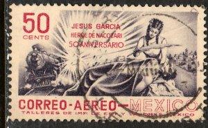 MEXICO C242, 50c Railroad Hero of Nacozari. Used. VF. (1114)