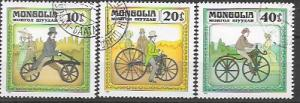 Mongolia - Issued in 1982 - Antique Bicycles 1233 - 1235