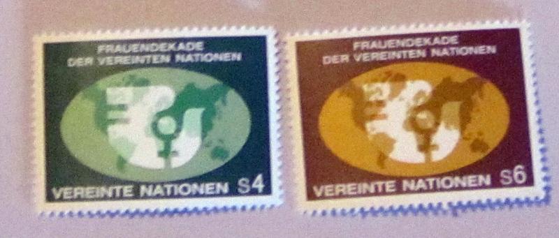 UN, Vienna - 9-10, MNH Set. Women's Year. SCV - $1.15