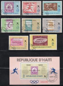 Haiti C330-37, C330a - Cto - Olympics / Stamps on Stamps