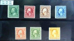 US Washington - Franklin - Perf 12 1908 - Starter Collection - OG HR See Descrip