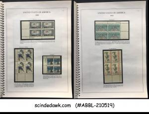UNITED STATES - 1961-1964 COMM. BLOCK STAMPS IN SPECIAL SPIRAL BINDER