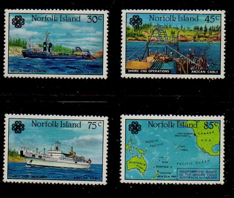 Norfolk Island Sc 319-22 1983 Communications Year stamp set mint NH