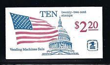 BK145 $2.20, 2116a, 22c Flag-Capitol (2) 1985