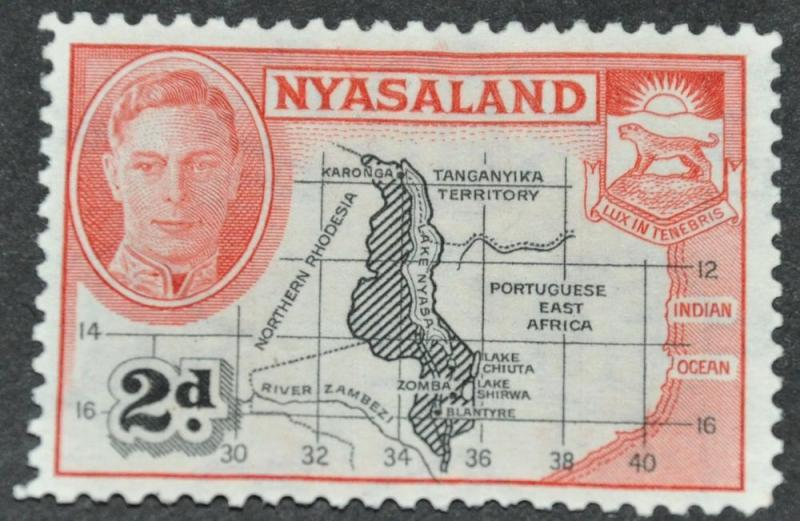 DYNAMITE Stamps: Nyasaland Scott #71 – USED