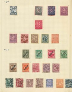 GERMANY Reich 1922 Inflation M&U Collection(140+Items) (W 859