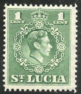 St. Lucia Scott 135a MVFNHOG King George VI, Perf 14 - SCV $3.25
