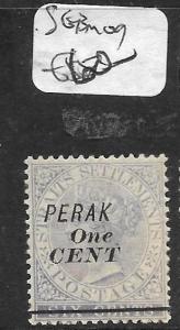 MALAYA PERAK (P1412B) QV 1C6C SG 43  MOG