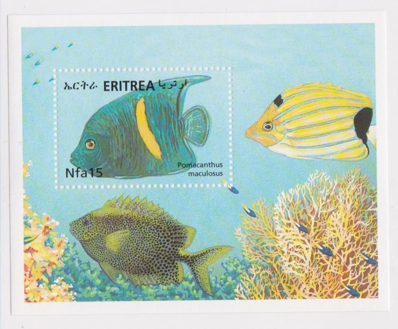 Eritrea - Fish & Coral Reefs of the Red Sea, 2000 - Sc 339 S/S MNH