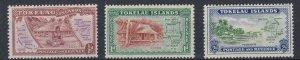 TOKELAU ISLAND 1948  SET OF 3  MH