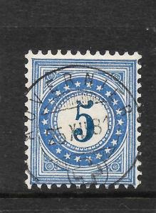 SWITZERLAND 1878-80  5c  POSTAGE DUE   FU    SG D92