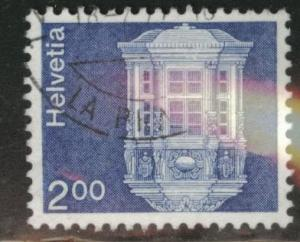Switzerland Scott 576 used from 1974 on Fiber paper