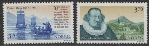NORWAY SG1302/3 1997 PETTER DASS(PRIEST & POET) MNH