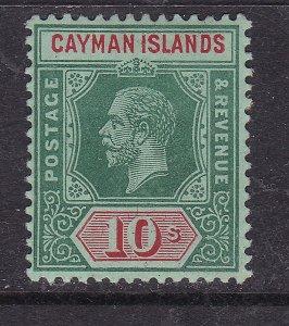 CAYMAN ISLANDS ^^^^^RARER   KEY  sc#44 10sh   mint  hinged  $$$@ lar4018cay