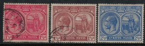 St. Kitts-Nevis #40-1 used #43a* NH  CV $4.10
