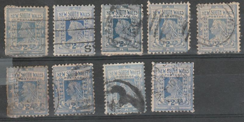 #98 New South Wales used lot of 9