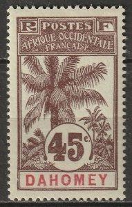 Dahomey 1907 Sc 26 MH*