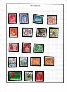 Switzerland Lot of 41 Stamps - Used