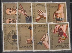 Costa Rica  SC   C601-8 Mint Never Hinged