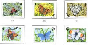 Jersey Sc 1221-26 2006 Butterrflies Moths stamp set used