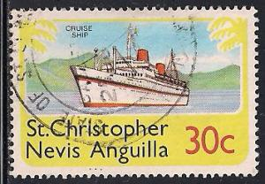 St. Christopher Nevis Anguilla 362 Used - Ship