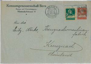 SWITZERLAND  -  POSTAL HISTORY:  PRIVATE Postal Stationery  1928