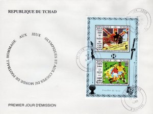 Chad 1989  World Cup Italy 1990/Intelsat 5 Satellite Space/CHESS S/S PERF.FDC
