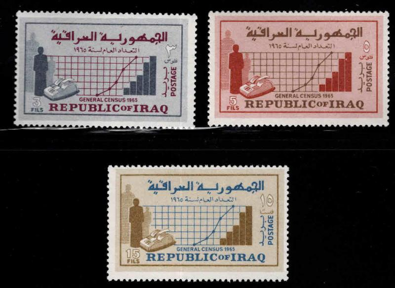 IRAQ Scott 390-392 MH*  1965 census set
