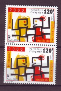 J15154 JLstamps 2000 french polynesia set of 1 pair mnh #789 language