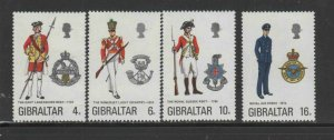 GIBRALTAR #310-3013  1974  UNIFORMS   MINT  VF NH  O.G