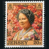 Jersey MNH 128 Royal Visit QE II 1975