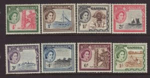1953 Gambia Short Set to 1/- Mounted Mint SG171/178