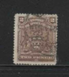 RHODESIA #61 1898 2p COAT OF ARMS F-VF USED