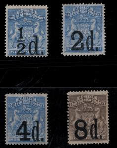 Rhodesia 1891 SC 20-23 Mint SCV $780.00 Set