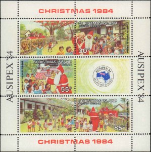 1984 Christmas Island #161, Complete Set, Never Hinged