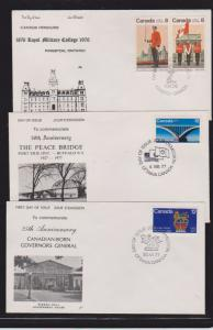 CANADIAN FDC (3) STAMPS USED STAMPS   LOT#PPJ65