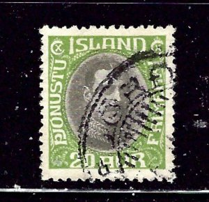 Iceland O45 Used 1920 issue