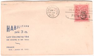 1953 Cuba Stamps Tobacco Type Overprinted FDC
