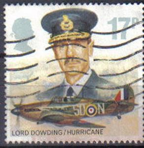 GREAT BRITAIN, 1986,  used 17p, History of the Royal Air Force. Lord Dowding ...
