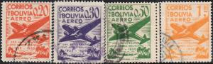 Bolivia #C130-C136 Used Set
