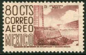 MEXICO C220F, 80¢ 1950 Definitive 2nd Printing wmk 300 PERF 11 MINT, NH. F-VF