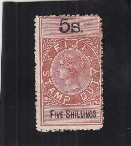 Fiji, Stamp Duty Tax, 5/S, Sc #12 (24927)