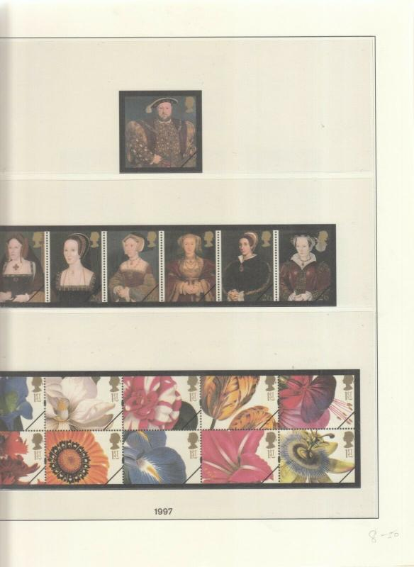LINDNER LUXURY GB ALBUM PAGES YEARS 1997-1998