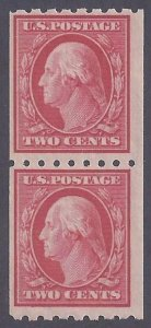 Scott #391 Mint pair LH OG Fine-very fine