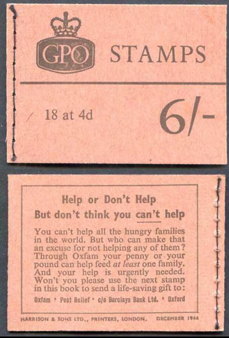 Q19 6/- Booklet Dec 1966 Crowns Ordinary